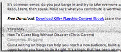 Free ebook link in feed (chrisgarrett) Tags: blog rss blogging link feed ebook blogbeat chrisgcom