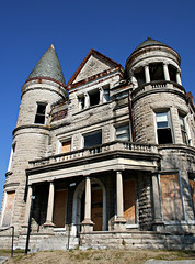 Ouerbacker Mansion Facade (deatonstreet) Tags: abandoned architecture facade kentucky property louisville mansion endangered romanesque 1860 richardsonian ouerbacker