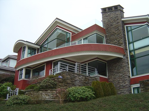 A contemporary house design at Puget Drive and West 31st Avenue in Vancouver, BC, Canada.