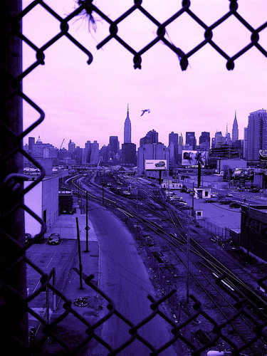 Skyline from QNS (blue)
