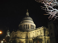 Another picture of St Pauls this time forgetting to turn the flash off.