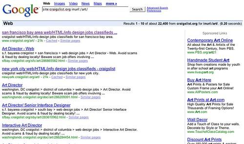 site:craigslist.org inurl:/art/
