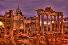 [フリー画像] 建築・建造物, 遺跡, HDR, イタリア, ローマ, 200807120900