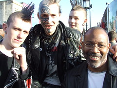 Kev & The London Punks (kchbrown) Tags: uk london leather ink camden kev punks camdenlocks fujifilmfinepixs5200 urbanlifeinmetropolis