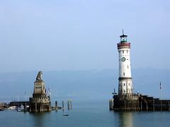 the blues (malona) Tags: 2005 blue bayern deutschland bavaria harbor harbour lindau hafen bodensee min hafeneinfahrt fl