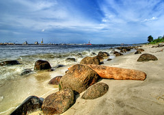 Punggol Beach #2 (DanielKHC) Tags: wood sea industry beach landscape log sand singapore rocks sony punggol alpha hdr a100 naturesfinest 4xp photomatix tonemapped outstandingshots specland tamron1118mm 25faves abigfave 30faves30comments300views anawesomeshot danielcheong hdrenfrancais diamondclassphotographer flickrdiamond danielkhc