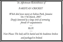 pakistan cricket obituary