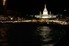Shimering Temple (cwgoodroe) Tags: christmas longexposure sunset holiday building water fountain architecture night dark temple lights oakland long exposure nightshot religion jesus expose christmaslights bayarea string mormon stillwater ist pentaxistd mormontemple chronicle96hours