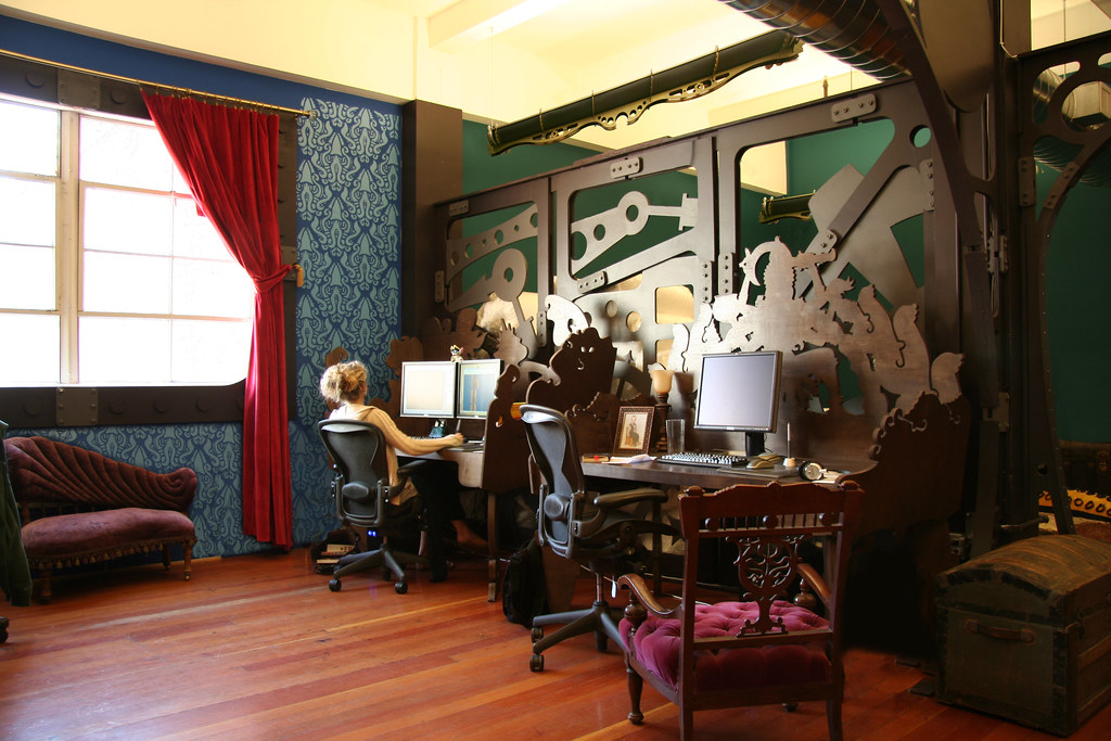 Steampunk Office Interior Design And Fabrication Commercial Architecture Interiors
