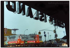Coney Island (david sine) Tags: city newyork film coneyisland island rainyday coney canonae1 greatness nathans parachuteride