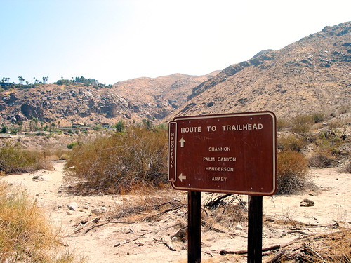 Trailhead out of the Wash
