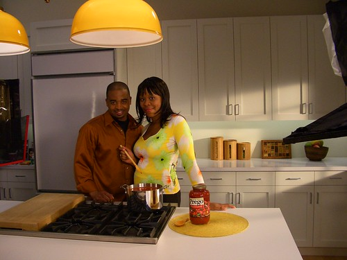 on the set - the prego commercial