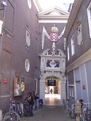 Entrance to the Historical Museum in Amsterdam