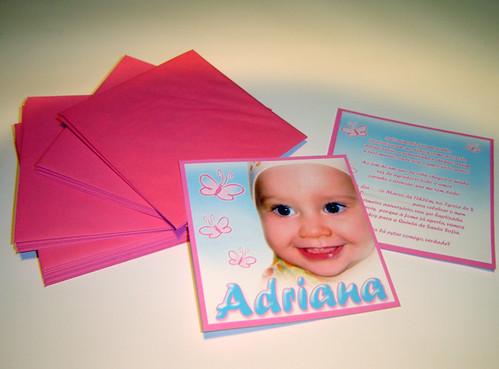 Convite de Baptizado Tema Borboleta Adriana