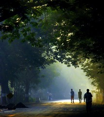 Light gives itself freely ! (shubhangi athalye) Tags: morning light india morninglight arch earlymorning silhouettes tunnel bombay maharashtra mumbai morningglory lightstreams playoflight subah lightattheendoftunnel fivestarsgallery maansanchyasaavlya sakalcheoon ultraselected bsb2007mybest