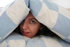 Day #089 - Going Undercover (sosij) Tags: 15fav bed triangle head 365 duvet day89