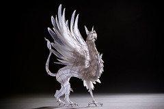 Wire and Paper Sculpture: Gryphon (polyscene) Tags: sculpture art silver paper paperart wire tissue polly fold poly griffin gryphon papercraft verity wiresculpture papersculpture mythological wireart polyscene pollyverity papersculptures