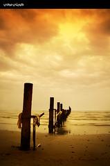 Cloudy Afternoon (Hussain Shah.) Tags: beach clouds d50 nikon afternoon cloudy kuwait 1855mm nikkor fahaheel الكويت الكوت superaplus kuwaitimuwali الفحاحيل كويتيموالي alkoutbeach شاطئالكوت