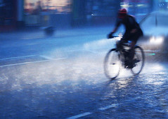 Holborn (Nad) Tags: road storm london wet rain bike bicycle shower lights traffic wheels holborn splash