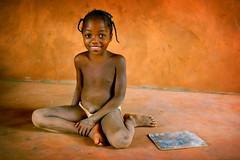school girl in benin - portrait galleria girl phitar school benin kid smile schoolgirl 2003