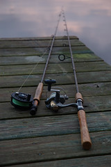 Fishing poles (dmushrush) Tags: fishing pole ftpond fortpond lancaster massachusetts