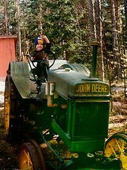 selfportrait tractor film childhood 80s familyphoto johndeere