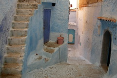 Blue painted city (**ANNE) Tags: city blue topf25 topv111 architecture 1025fav wow topv333 painted morocco chefchaouen belongingtomy25favorites