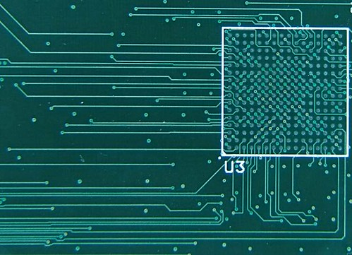 Circuit board with BGA