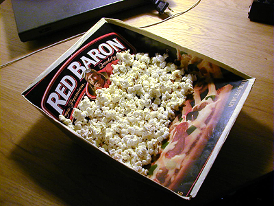 Pizza Box Popcorn Bowl