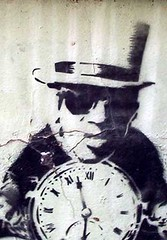 flavor flav (owlana) Tags: street urban streetart pasteup art public graffiti stencil paint flavor magic graf australia melbourne alleyway laneway sharpie aerosol enemy flav walkingaround