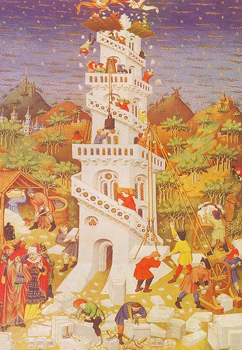 Tower of Babel from the Bedford Book of Hours, 1423