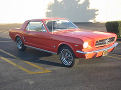 Pumpkin - my poppy orange 1965 Ford Mustang
