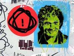 David (Loso) Tags: berlin streetart stencil graffiti mitte david hasselhoff sticker galo toys
