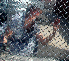 Cobalt in a Vehicle Hoist (cobalt123) Tags: selfportrait reflection metal mirror mirrorproject shiny industrial lift metallic automotive chrome vehicle mobility hoist specialtyvehicle moihehe
