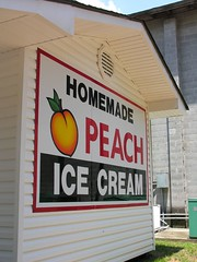 Homemade Peach Ice Cream Stand