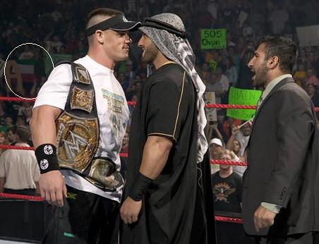 Kuwait Flag in WWE Monday Night RAW