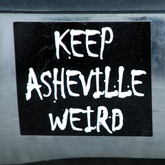 keep asheville weird bumper sticker - by zen