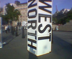 North/West (Katy Lindemann) Tags: art pillar trafalgarsquare london northeastsouthwest