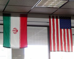 iranian US flags