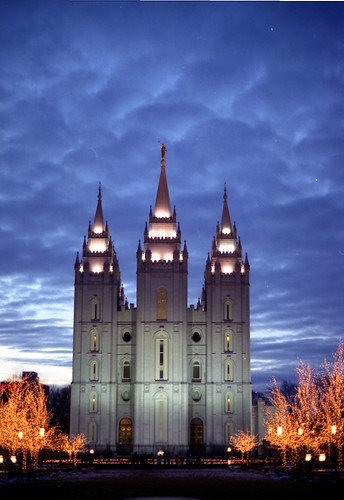Salt Lake Temple At Dusk