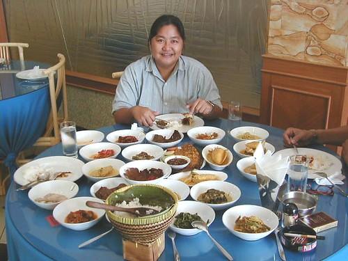 makanan Padang food spread, Surabaya