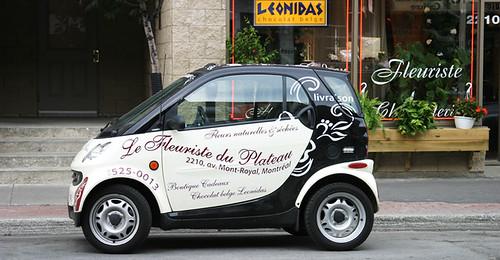 Florist delivery car
