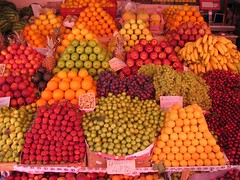 fruit stand (heydrienne) Tags: travel fruit turkey bazaar fruitstand bodrum