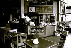 Bauhaus Cafe 2, Seattle, June 2005 (artandscience) Tags: bauhaus seattle trix canonfd wideangle