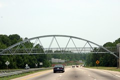 Raleigh's own arch... (glovision) Tags: bridge architecture pedestrian arches questionable