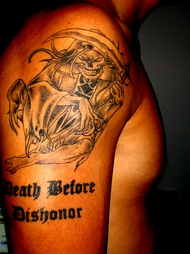 Chris's Ink - Death Before Dishonor