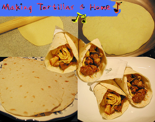 Flour Tortillas with Spicy Beef
