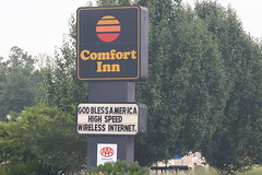 God Bless High Speed Internet (RussellReno) Tags: sign speed america hotel high inn funny god board si internet humor wireless approved comfort bless aaa elko godbless highspeedinternet russellreno aproved