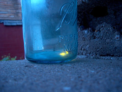 fireflies in a jar - by jamelah