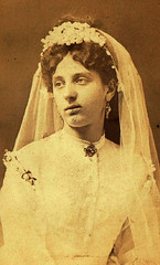 Hungarian Bride (~ Lone Wadi Archives ~) Tags: budapesthungary hungarian cartedevisite cdv portrait bride bridal mysterious unknown lostphoto foundphoto retro 1870s 19thcentury victorian